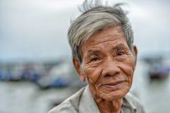 Vieil homme asiatique Photographie stock