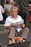 Vieil homme asiatique image stock