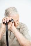 Vieil homme avec la dépression Photos libres de droits