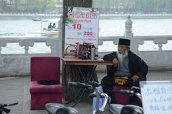 Vieil homme chinois Photo libre de droits