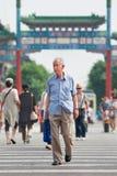 Vieil homme chinois sur la rue, Pékin, Chine Photo libre de droits