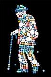 Vieil homme de médecine Images stock