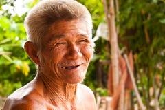 Vieil homme de sourire Photos libres de droits