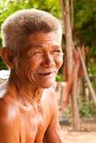 Vieil homme de sourire Image libre de droits