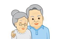 Vieil homme et dame âgée Photographie stock