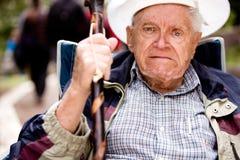 Vieil homme fâché Photos libres de droits