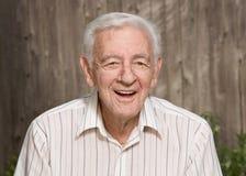 Vieil homme heureux Image libre de droits