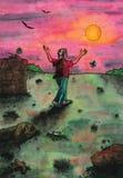 Vieil homme heureux (2011) illustration libre de droits