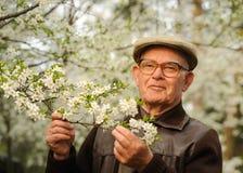 Vieil homme heureux Images libres de droits