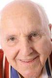 vieil homme heureux de headshot Images stock