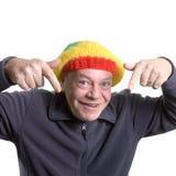 Vieil homme idiot Photo libre de droits