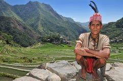 Vieil homme indigène image libre de droits