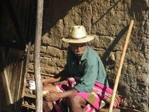 Vieil homme indigène malgache Photo stock