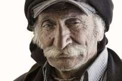 Vieil homme libanais traditionnel avec la moustache Images libres de droits