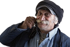 Vieil homme libanais traditionnel avec la moustache Photo stock