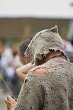Vieil homme, mendiant Image libre de droits