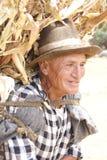 Vieil homme péruvien Photographie stock libre de droits