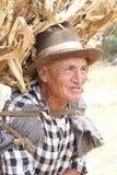 Vieil homme péruvien Photo stock