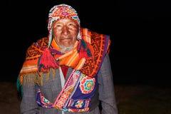 Vieil homme péruvien indigène Photographie stock libre de droits