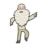 vieil homme soumis à une contrainte par bande dessinée illustration de vecteur