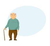 Vieil homme triste illustration de vecteur