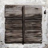 Vieil hublot en bois rustique Photographie stock