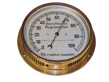 Vieil hygromètre photographie stock