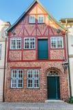 Vieil immeuble de brique médiéval dans Luneburg l'allemagne images stock