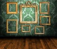 Vieil intérieur dénommé illustration de vecteur