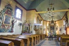 Vieil intérieur d'église Image libre de droits
