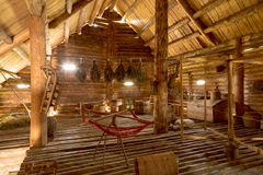 Vieil intérieur de ferme de périodes d'une vieille maison de campagne Photo libre de droits