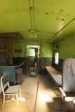 Vieil intérieur de train photos stock