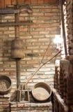 Vieil intérieur de village rural image stock