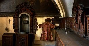 Vieil intérieur de Wery Photographie stock