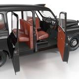 Vieil intérieur noir de cabine sur le blanc Trappes 3 de Dreamscape illustration 3D Photo stock