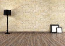 Vieil intérieur vide Images libres de droits