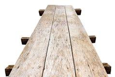 Vieil isolat en bois de pont Photo libre de droits