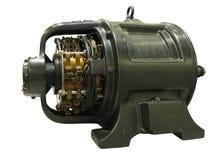 Vieil isolat puissant de moteur électrique d'équipement industriel de vintage Photographie stock libre de droits