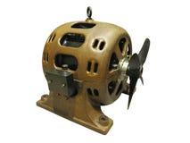 Vieil isolat puissant de moteur électrique d'équipement industriel de vintage image stock