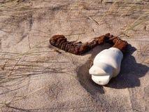 Vieil isolateur dans le sable Photographie stock