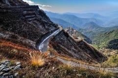 Vieil itinéraire en soie, entre la Chine et l'Inde, le Sikkim Images libres de droits