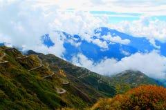 Vieil itinéraire en soie reliant la Chine et l'Inde Sikkim, Inde photo libre de droits