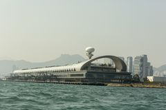 Vieil Kai Tak aéroport de Hong Kong Photographie stock