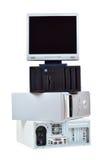 Vieil ordinateur et déchets électroniques image stock