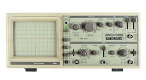 Vieil oscilloscope analogique photographie stock libre de droits