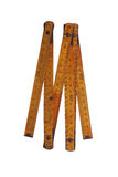 Vieil outil jaune de mesure Photographie stock