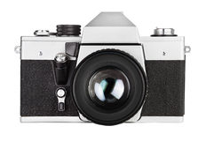 Vieil photo-appareil-photo de film de vintage Photos stock