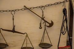 Vieille échelle Images libres de droits