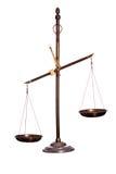 Vieille échelle d'or Image libre de droits