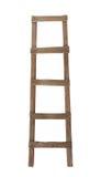Vieille échelle en bois d'isolement Photographie stock